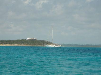 Real Life at anchor at the Abacos Land and Sea Park