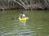 Kayak near Haulover Canal bridge